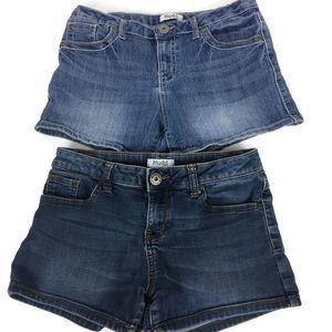 2 Mudd Denim Shorts Girls Size 16